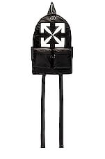 OFF-WHITE Arrow Backpack in Black