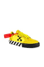 OFF-WHITE Low Vulcanized Sneaker in Yellow & Black