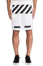 Mesh Short in White