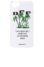 OFF-WHITE Island iPhone 8 Cover in Transparent & Green