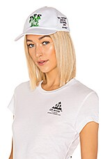 OFF-WHITE Island Baseball Cap in White & Green