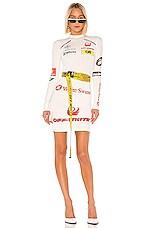 OFF-WHITE Multilogo Sporty Dress in White Multicolor