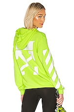 OFF-WHITE Diagonal Hoodie in Fluorescent Yellow