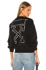 OFF-WHITE Shifted Crop Crewneck in Black