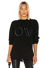 OFF-WHITE Knit Oversize Sweater in Black & White