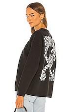 OFF-WHITE Bubble Arrow Knit Sweater in Black & White