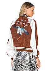 Souvenir Jacket in Light Brown & White