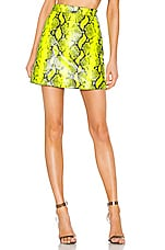 OFF-WHITE Python Zipped Skirt in Fluorescent Yellow