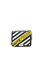 Flap Bag in White & Black