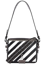 OFF-WHITE Diagonal Flap Bag in Black & White