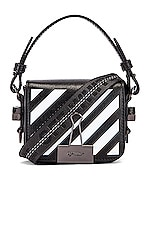 OFF-WHITE Diagonal Baby Flap Bag in Black & White