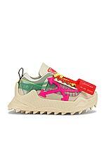 OFF-WHITE Odsy-1000 Sneaker in Cream & Fuchsia