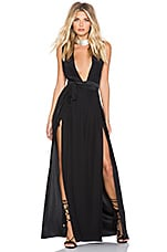 ROBE MAXI DOUBLE SLIT