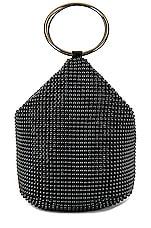 olga berg Bianca Ball Mesh Handle Bag in Black
