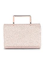 olga berg Ariana Glitter Top Handle Bag in Rose Gold