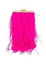 olga berg Tonia Feather Fringed Shoulder Bag in Fuchsia