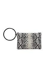Oliveve Murphy Bracelet Clutch in Black & White Snake