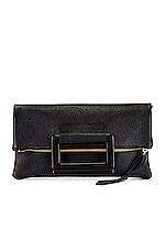 Oliveve Jolie Clutch With Lucite Handles in Black