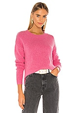 One Grey Day Lyle Cashmere Pullover in Pink Shock