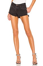 One Teaspoon Bonita Low Waist shorts in Pure Black