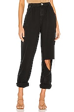 One Teaspoon Smiths High Waist Trouser Wide Leg in Black