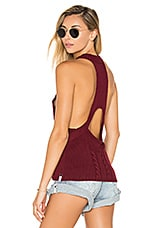 Frontier Sleeveless Sweater in Bordeaux