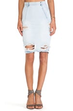Free Love Denim Pencil Skirt in Brando
