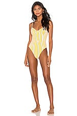 onia x WeWoreWhat Danielle One Piece in Cabana Stripe Citrus