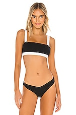 onia Zoe Bikini Top in Black