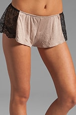 Venice Hipster with Lace Inset in Oyster/Black