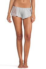 Venice Hipster with Lace Insets in Heather Grey