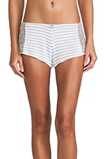 Lace Hipster in Heather Grey Stripe