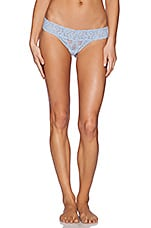Stretch Lace Must Have Thong in Blue Bell