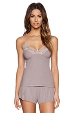 Feather Weight Rib Lace Cami in Grey Pearl