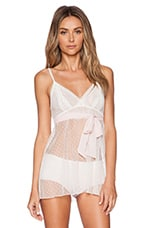 Coucou Lola Coucou Chemise in Creme & Pink