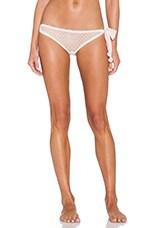 Coucou Lola Side Tie Bikini in Creme & Pink