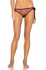 Coucou Lola Side Tie Bikini in Wine & Black