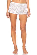 Lisbon Lace Sleep Short in White