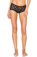 Stretch Lace Ruched Back Hipster en Noir