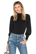 Only Hearts Pleat Sleeve Bodysuit in Black
