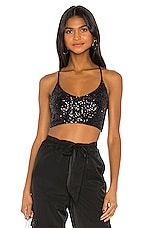 Only Hearts Sequin Tank in Black