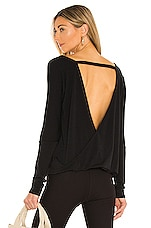 onzie Drapey V Back Tee in Black