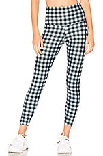 onzie High Basic Midi Legging in Gingham