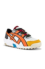 Onitsuka Tiger AP Big Logo Runner in White & Shocking Orange