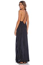 Carley Maxi Dress in Pinstripe