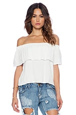 Senorita Top in White Crepe