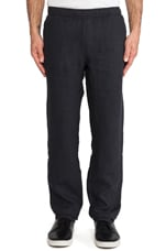Anthracite Linen Relaxed Trouser in Grey