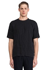 Anthracite Linen Weave Tee in Grey