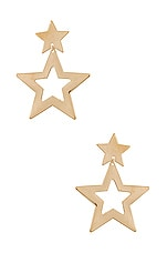 Paradigm Super Star Earrings in Gold