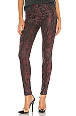 PAIGE Hoxton Ultra Skinny in Coated Red Snake